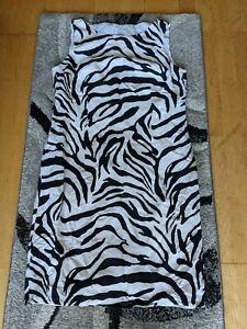Kleid schwarz weiß Zebra Gr. 42