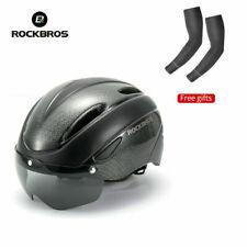 ROCKBROS Black Cycling Helmet Riding Sport Helmet with Magnetic Goggle 57-62cm