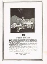 1917 Original Vintage White Truck Company Motor Car Automobile Art Print Ad