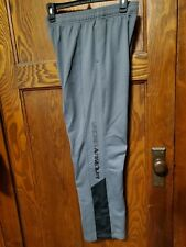 Under Armour UA Boys Athletic Sports Pants Size Youth Large Gray/Black