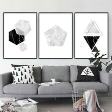 Marble Geometry Abstract Poster Wall Art Canvas Prints Modern Home Decoration