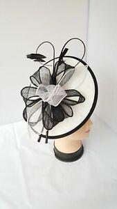 Elegant Headband and Clip Two-Tone Sinamay Fascinator Weddings Ladies Day