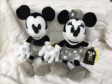 TOKYO Disneyland Mickey Minnie Monochrome ORIGINAL Plush Bean Bag Brand New RARE