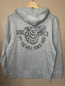 VANS Boys Snarly Pullover Hoodie Sweatshirt Gray New
