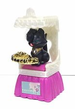 Vintage Littlest Pet Shop Royal Bombay Black Kitty Cat With Throne Kenner 1994