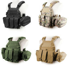 500D Nylon Hunting Paintball Molle Tactical Vest with Accessory bag Pouch VE-46
