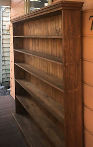 Large solid baltic pine bookcase