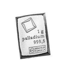 Palladium 1 gram Valcambi Suisse CombiBar bar