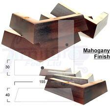 4x piedini in legno massello gambe per divani, sedie, sgabelli, armadi e letti pre perforati
