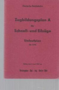 Zugbildungsplan A für Schnell- und Eilzüge. Umlaufplan (Zp A/U). Gültig vom 2. J