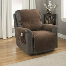 Heavy-Weight Microsuede Pebbles Furniture Recliner Protector Slipcover Chocolate