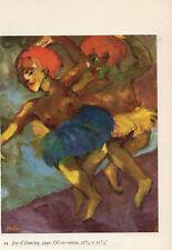 """1959 Vintage EMIL NOLDE """"JOY OF DANCING"""" GORGEOUS COLOR Offset Lithograph"""