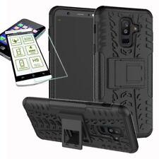 Hybrid Tasche Outdoor 2teilig Schwarz für Samsung Galaxy A6 Plus A605 Hülle Glas