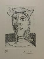 Picasso Hand Signed Original Etching