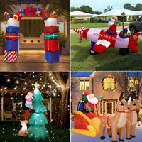 LED Light Airblown Inflatable Christmas Santa Arch Xmas Lawn Yard Outdoor Decor