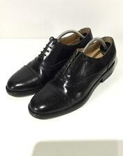 Samuel Windsor Mens Oxford Brogues UK7 Black Leather Handmade VGC