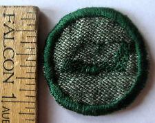Vintage 1933-1938 Girl Scout SCRIBE BADGE Book Binder Reader Patch Grey Green