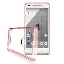 Premium Hardcase Cover Schutzhülle für Google Pixel 2 in Transparent pink rosa