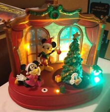 Animated Christmas Musical Disney Scene Donald Duck Mickey Minnie Lights Songs