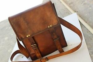 Vintage graceful Genuine Real Leather Handbag Shoulder Bag Satchel Messenger