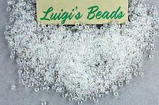11/0 Round Toho Japanese Glass Seed Bead #161-Transparent Rainbow Crystal 15g