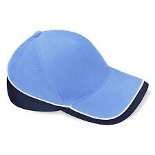 Casquette SPORT baseball cap marque Beechfield BLEU CIEL BLEU MARINE BLANC