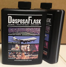 4 Flasks - DisposaFlask - Plastic Alcohol Flask - Free Shipping