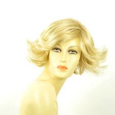 Perruque femme courte blond doré méché blond très clair  JEANNETTE 24BT613