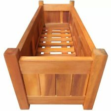 vidaXl Large Wooden Raised Garden Bed Patio Grow Box Planters Vegetables Herbs