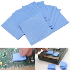 100Pcs 10*10*1mm Thermal Pad GPU CPU Heatsink Cooling Conductive Silicone Pad