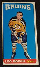 1964/65 - TOPPS - TALL BOY - LEO BOIVIN - BOSTON BRUINS - NHL - HOCKEY CARD #50