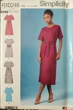 Simplicity easy pattern R10246 Misses' Dresses with variations sz 14 - 22 uncut
