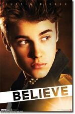 2012 JUSTIN BIEBER BELIEVE POSTER PRINT 22x34 FAST FREE SHIPPING