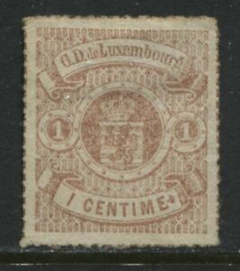 Luxembourg 1872 1 centime red brown unused no gum