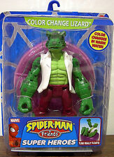 "SPIDER-MAN and FRIENDS Super Heroes Collection_Color Change LIZARD 6"" figure_MIP"