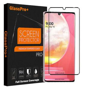 For LG Velvet 5G Black Full Cover Tempered Glass LCD Screen Protector Film Guard