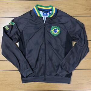 Vintage Retro Adidas Brazil National Soccer Team World Cup Jacket Mens size XL