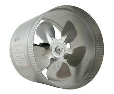 "TerraBloom 8"" Inch Duct Booster Inline Fan, 8-inch Blower, hydroponic intake fan"