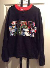 Star Wars Characters Black Long Sleeve T Shirt  Size L