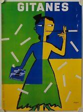Affiche Cigarettes GITANES 1995 illustr. SAVIGNAC