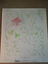 Large 28x22 1961 Topo Map Stephenville, Texas Pole Hollow Branch Welcome Valley