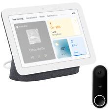 Google Nest Hub Display Gen 2 (Charcoal) with Google Nest Hello Doorbell