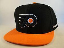 Philadelphia Flyers NHL Snapback Hat Cap Reebok Black Orange