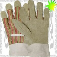 XS-Small Glove Premium Pigskin Leather PALM & FINGER  Starched Shop WORK 1 Pair