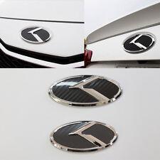 3D K Logo Front + Rear Carbon Black Emblem For KIA Forte Cerato 2009-2013