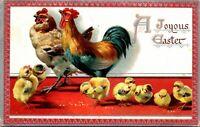 Vintage Postcard Tuck's Embossed - A Joyous Easter - Chickens Series 707