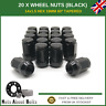 20 x Black Alloy Wheel Nuts M14x1.5 For Ford S-Max With After-market Alloys