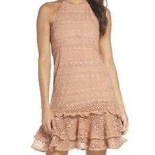 Cooper St Elizabeth Lace Cafe Creme Halter Dress Size 12
