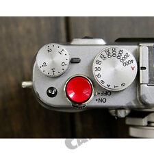 Metal Concave Red Color Shutter Release Button For Fujifilm X100 X10 X-E1 X-E2