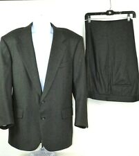 Custom Made Unbranded Men's Charcoal Gray Wool Two Button Suit 46R? Pants 36X32